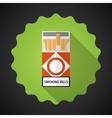 Smoking Cigarette Pack Bad Habit Flat icon vector image