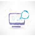 Talking monitor with bubble screen Brush icon vector image