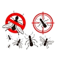 termite or ant pest control icons set vector image
