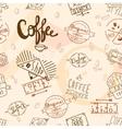 Vintage retro coffee seamless vector image