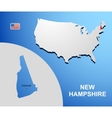 New Hampshire vector image vector image
