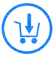 add to basket rounded grainy icon vector image