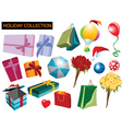 holiday collection vector image vector image