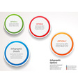 Infographic circles options vector image