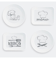 set of plates on a white background vector image
