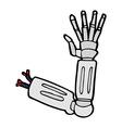comic cartoon robot arm vector image