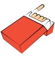 Cigarettes package vector image vector image