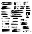 Black paint brush strokes collection vector image