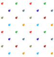 Bugs colorful on white seamless pattern texture vector image