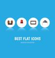 flat icon electronics set of recipient vector image