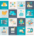 Information Technologies Concept Flat Icons vector image
