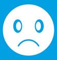 sad emoticon white vector image