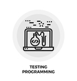 Testing Programming Line Icon vector image