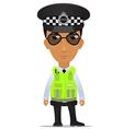 traffic police officer uk vector image