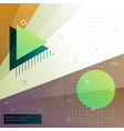 Geometric memphis style background vector image