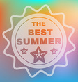 Best Summer Text Card vector image