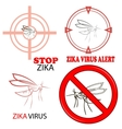 Zika Virus Sign Isolated vector image