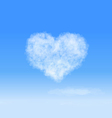 Heart cloud vector image