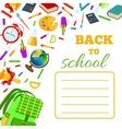 Back To School cover for children exercise book vector image