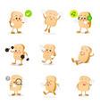 collection of bread cartoon eps 10 vector image