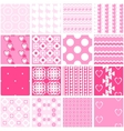 Cute pink seamless patterns Endless vector image