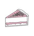 delicious piece of cake vector image