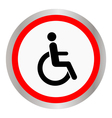 disabled icon sign vector image