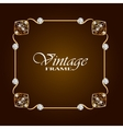 Gold frame with diamond Vintage frame vector image