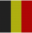 Knitted flag of Belgium vector image