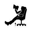man businessman sitting in a modern chair with vector image