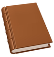 Old leather book vector image