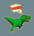 Retro Running Dinosaur vector image
