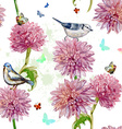 seamless texture watercolor spring flowers vector image
