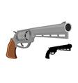 Big Revolver gun silhouette firearms Large handgun vector image