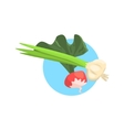 Onion And Radish Farm Product Colorful Sticker vector image