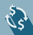Exchange Money Icon vector image vector image