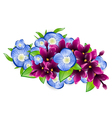 Wet Lilac and Forget-me-not Flower vector image vector image