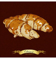 pastries croissant vector image vector image