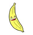 Comic cartoon happy banana vector image