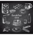 breakfast hand drawn set Vintage vector image