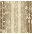 gold floral seamless striped pattern vector image