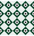 Football Ball Green White Chess Board Diamond vector image