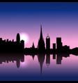 barcelona spain sunrise skyline vector image