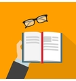 Reading book flat vector image