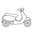 Scooter icon outline style vector image