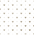 Seamless gold pattern with hearts on a vector image