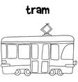 Tram art hand draw vector image