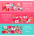 Valentine Day Web Horizontal Banners vector image