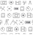 different line style icons seamless pattern camera vector image