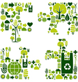 Puzzle environmental icons vector image